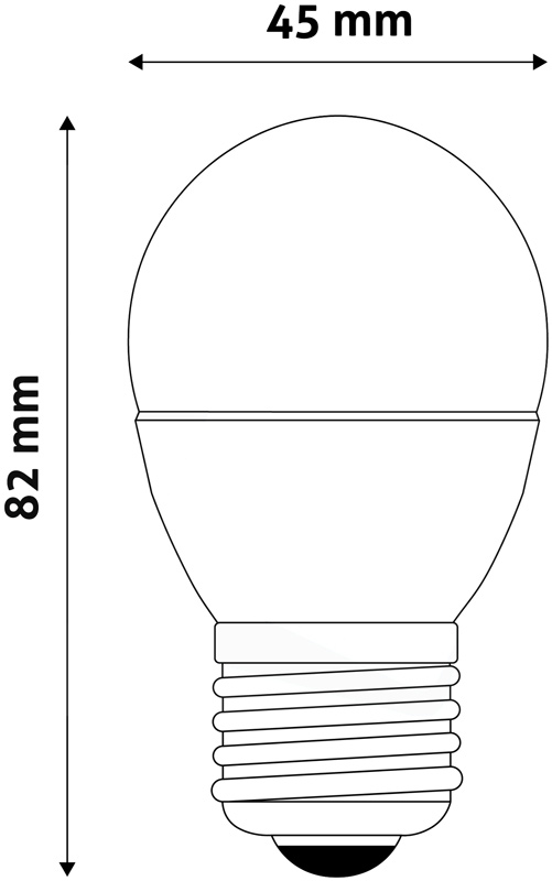 LED Žárovka E27 mini 6W 6400K