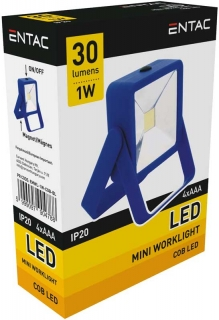 LED reflektor mini 1W 30lm, Modrý